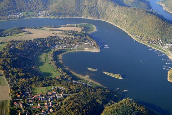 Klein-Edersee-Luftaufnahme