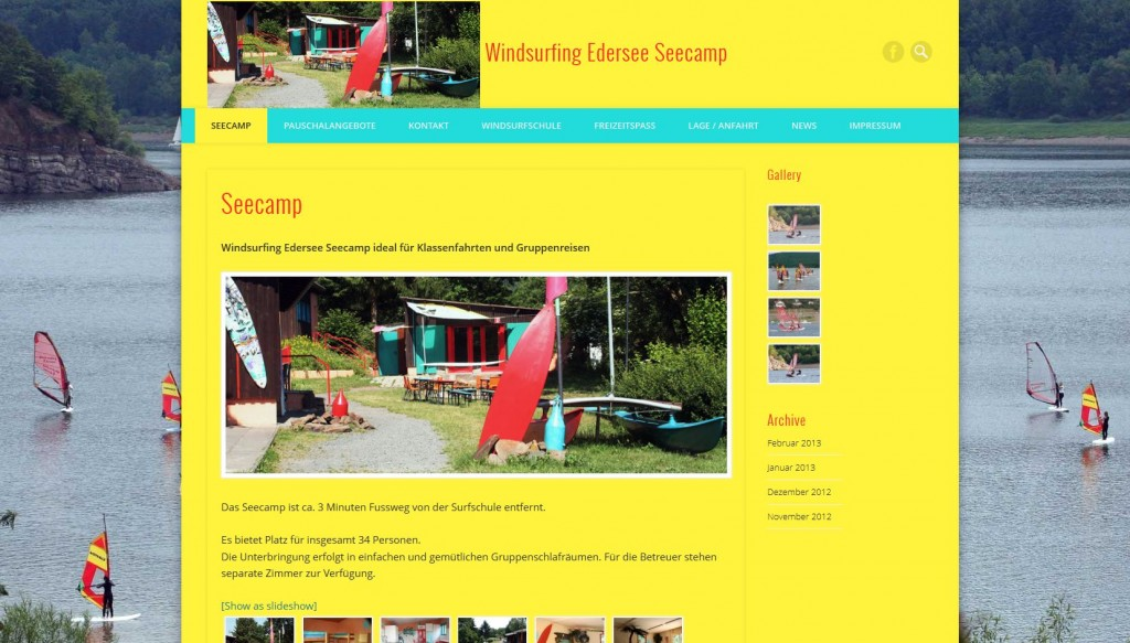 Windsurfing Edersee Seecamp